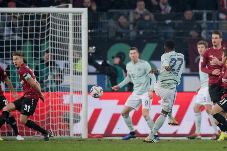 Ein Tor wie gemalt - Alabas Treffer zum 2:0.