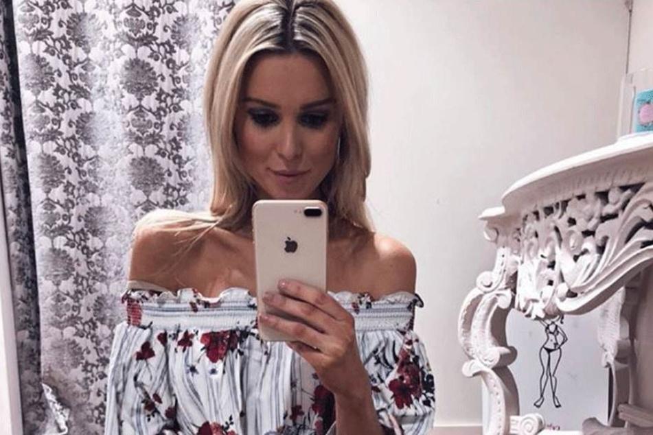 Katja Kühne (33) auf einem sexy Selfie.
