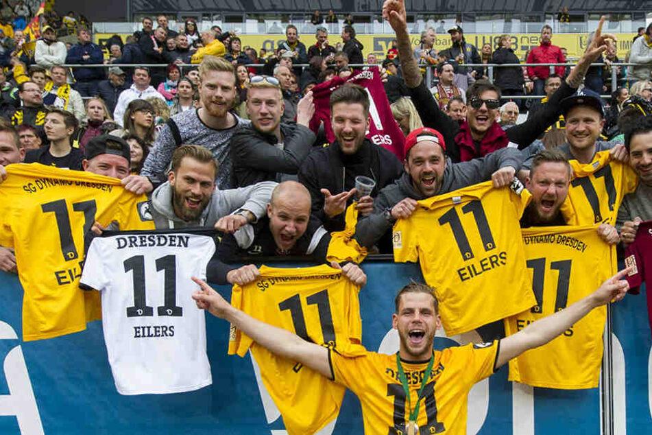Das waren tolle Zeiten für Justin Eilers. In Dresden wurde der Stürmer gefeiert wie ein Fußball-Gott.