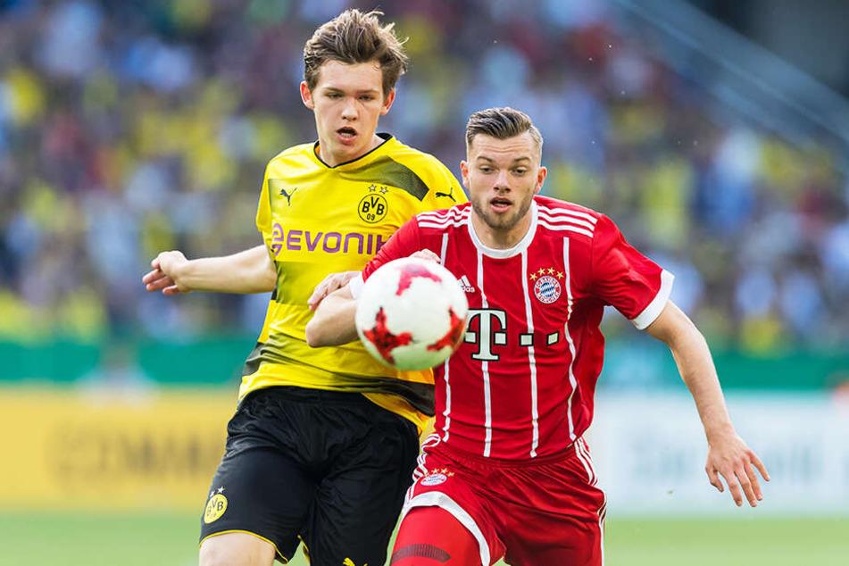 Luca Kilian (l.) verlässt den BVB und schließt sich dem SC Paderborn 07 an.