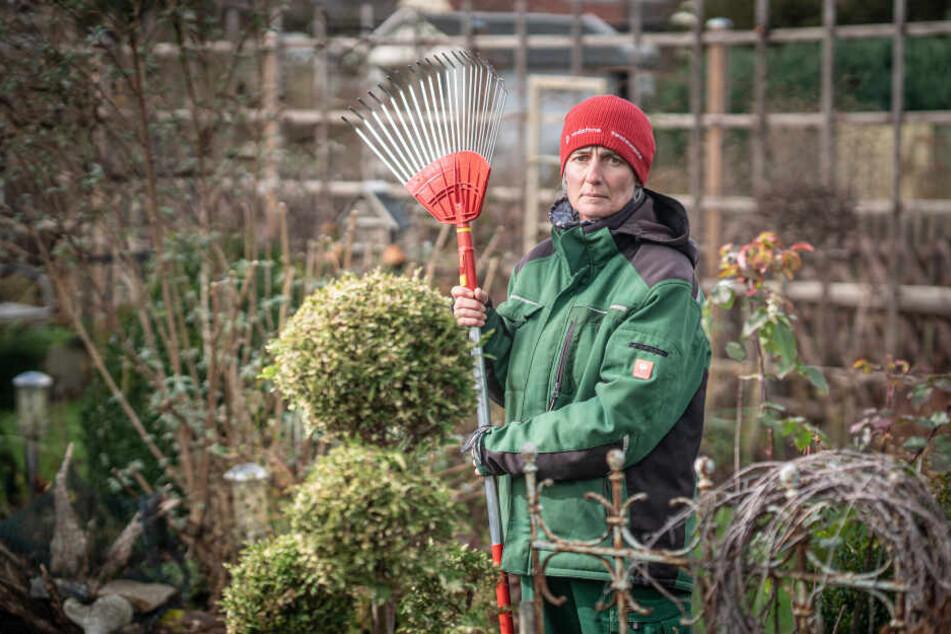 Silke Hartig (51) kämpft als letzte Pächterin in ihrem Garten um den Verbleib.