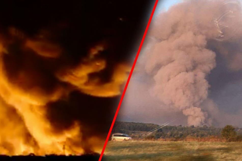 Großbrand! Flammen-Inferno auf Müllkippe