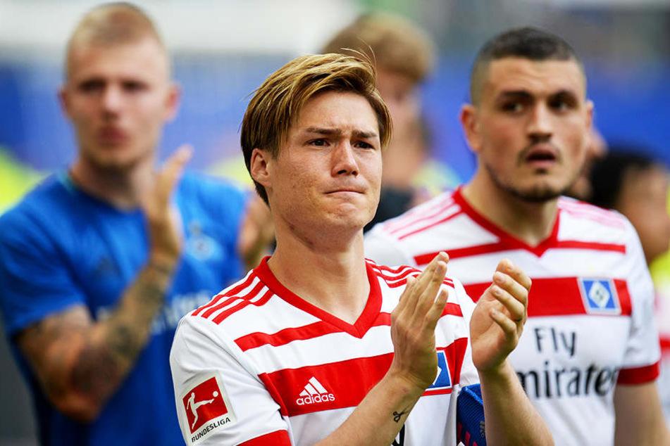 Kapitän Gotoku Sakai weinte nach Spielende, will dem HSV aber erhalten bleiben!