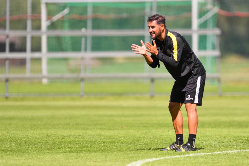 Cristian Fiel steht in seiner noch jungen Trainer-Karriere vor seinem zweiten Sachsenderby. Das erste gewann er im April mit 3:1 in Aue.
