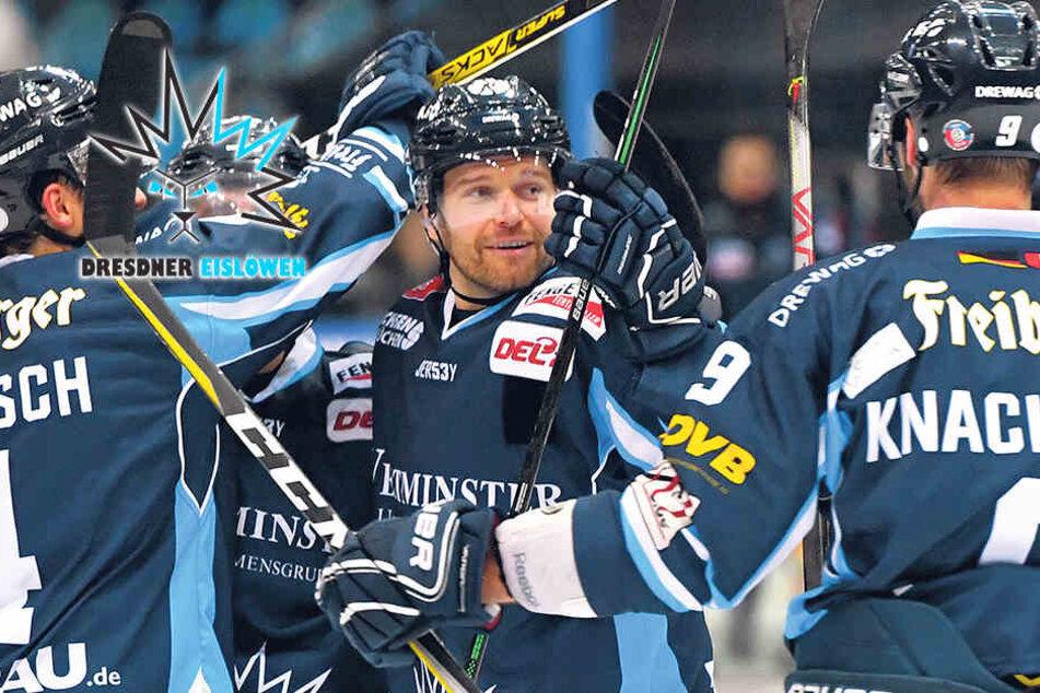 Dresdner Eislöwen können doch noch gewinnen! Sieg gegen Bad Nauheim