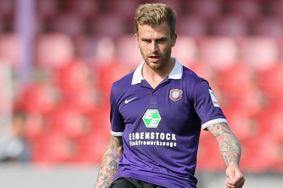 René Klingbeil spielte von 2008 bis 2015 für den FC Erzgebirge. Fünf Jahre lang war er Veilchen-Kapitän. Jetzt trainiert er den FC 1910 Lößnitz.