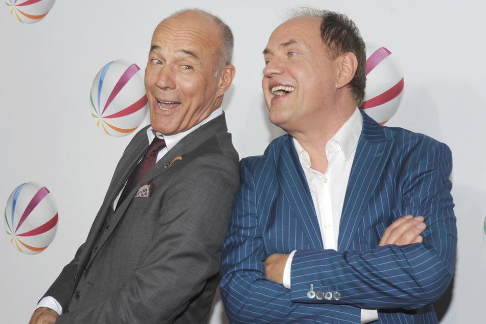 """Seit """"Männer"""" arbeiteten Heiner Lauterbach (68, l.) und Uwe Ochsenknecht (65.) immer wieder an gemeinsamen Projekten, auf eine Fortsetzung des Filmklassikers warten die Fans aber bis heute (Archivbild)."""