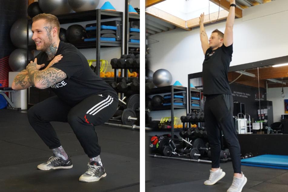 6 Übungen: Mit diesem Workout kämpfst Du gegen die Weihnachtspfunde