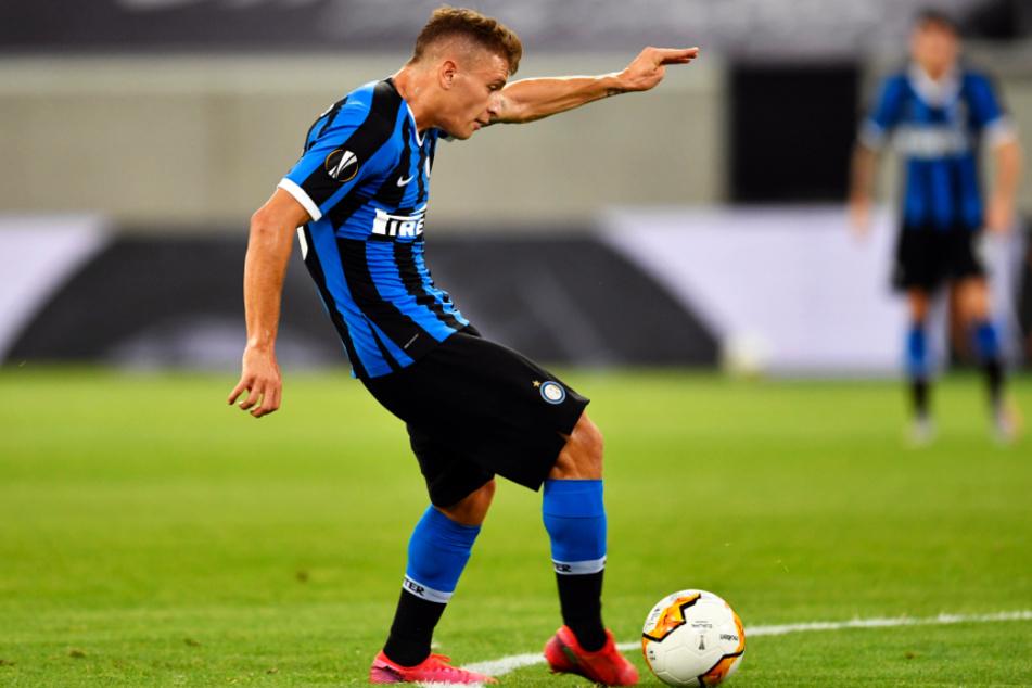 Nicolo Barella brachte Inter Mailand mit diesem Außenrist-Schlenzer mit 1:0 in Führung.
