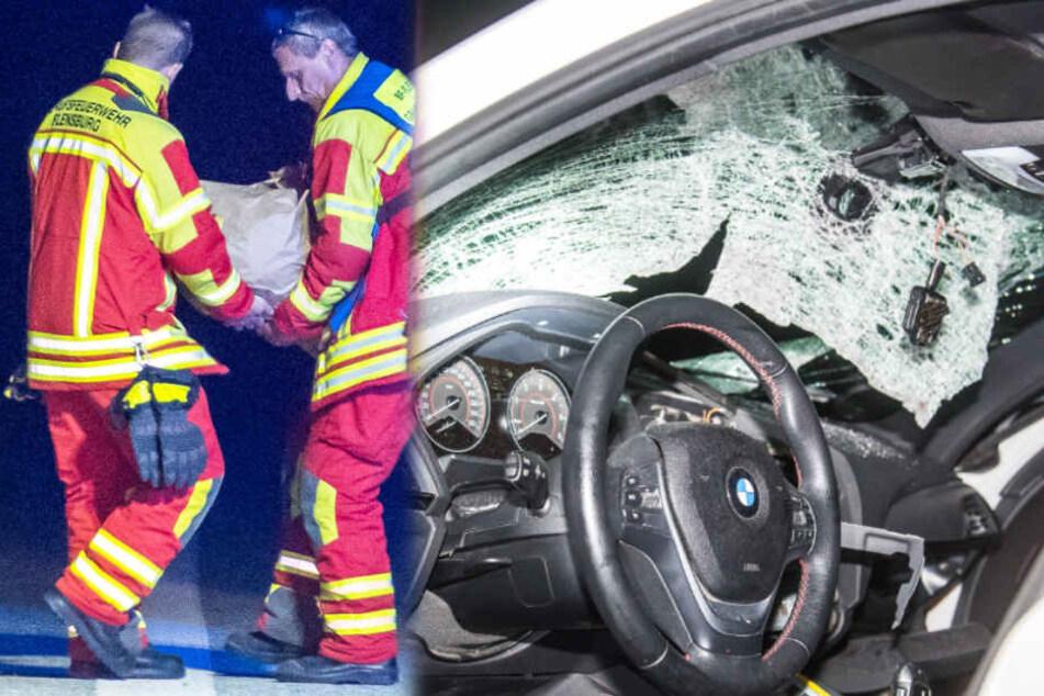 Auto mit 46-Kilo-Brocken von Brücke beworfen: Fahrerin schwer verletzt