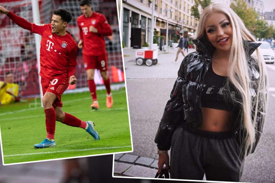 Jetzt macht Katja Krasavice auch noch Bayerns Coutinho frivole Angebote!