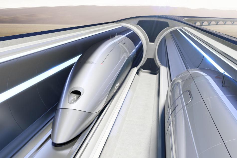 Wie bei der Bahn soll es beim Hyperloop zwei Röhren mit Verkehr in je eine Richtung geben.