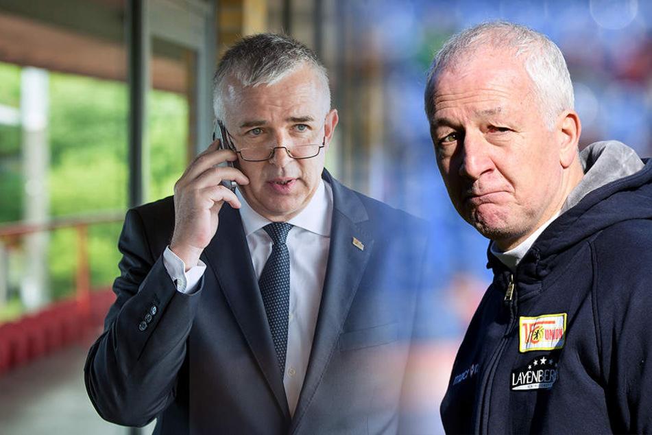 Die Zukunft von Unions Trainer André Hofschneider ist nach Aussagen von Präsident Dirk Zingler offen.