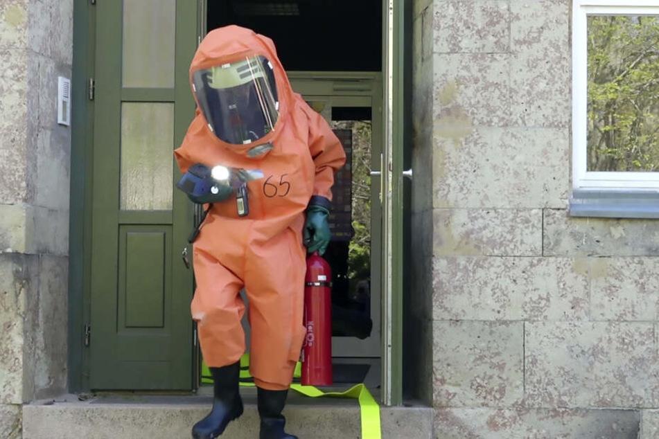 Die Feuerwehr war unter Vollschutz im Kindergarten im Einsatz.