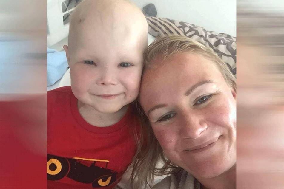 Harri verlor während der Chemotherapie seine Haare.
