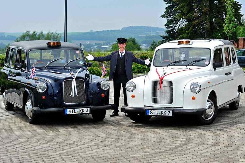 Was für Prachtexemplare! Briten-Fan Stephan Foltys (48) ist stolz auf seine englischen Taxis!