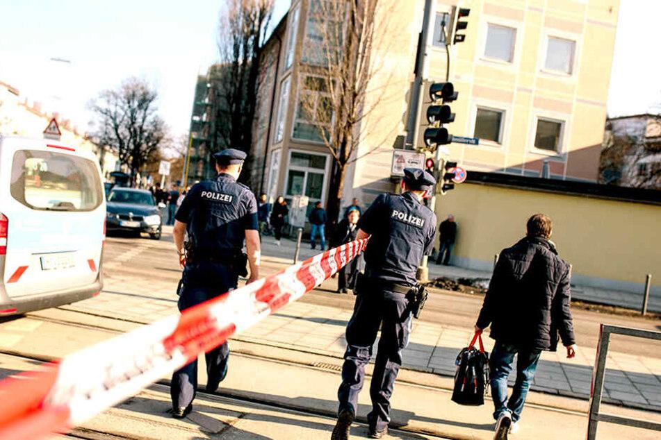 Bis 10 Uhr war die Baustelle in München wegen der Schießerei gesperrt.