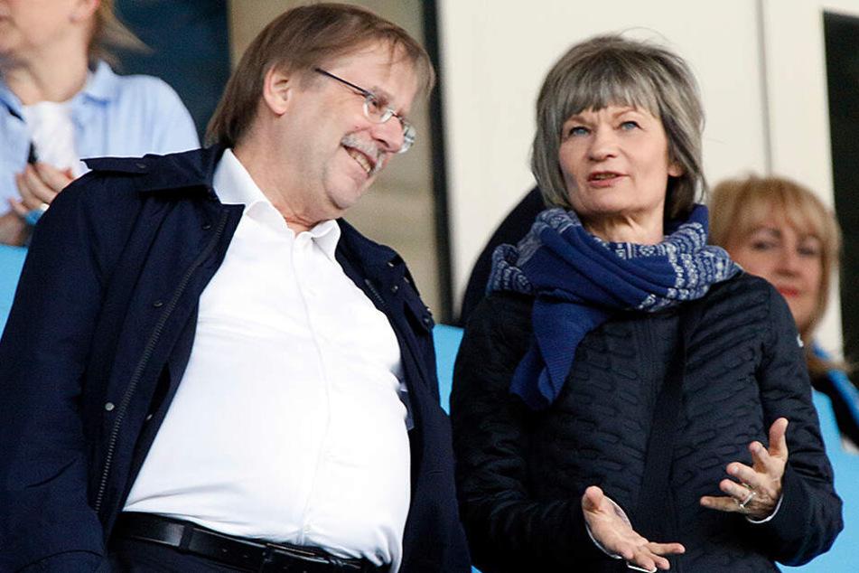 DFB-Vizepräsident Rainer Koch und Oberbürgermeisterin Barbara Ludwig am Samstag im Stadion.