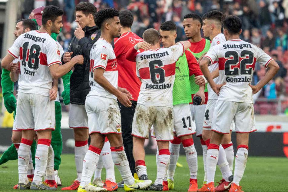 Nach hartem Kampf nehmen Didavi und seine VfB-Teamkollegen zufrieden einen Punkt aus der Partie gegen die TSG Hoffenheim mit.