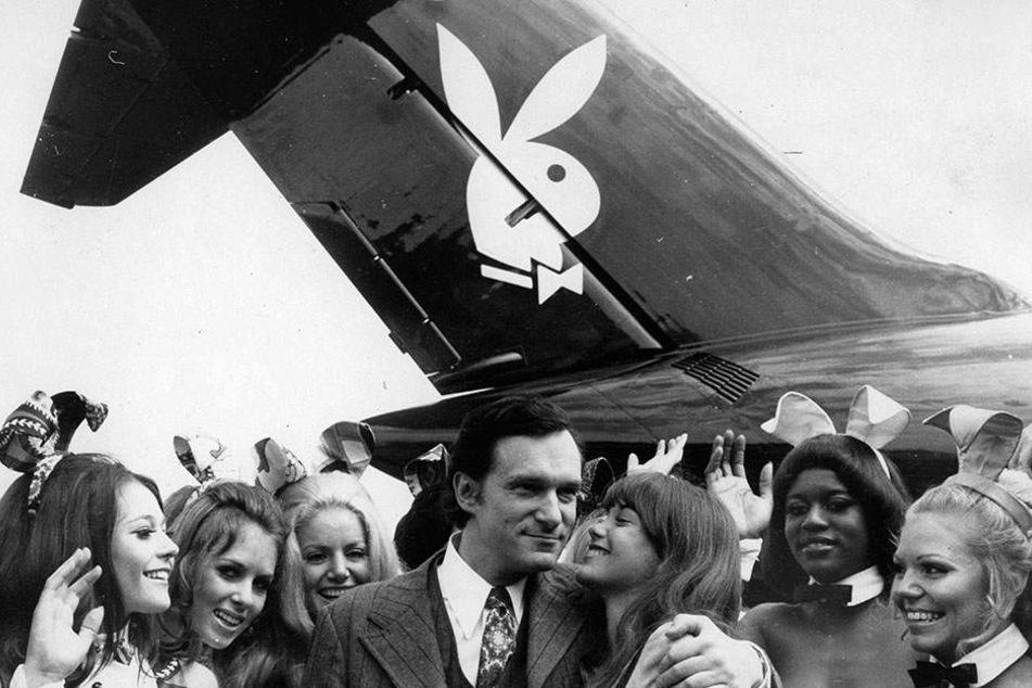 """Das """"Playboy""""-Logo durfte natürlich auch auf Hugh Hefners Privatjet nicht fehlen, das auf den Namen """"Big Bunny"""" hörte - wie passend."""
