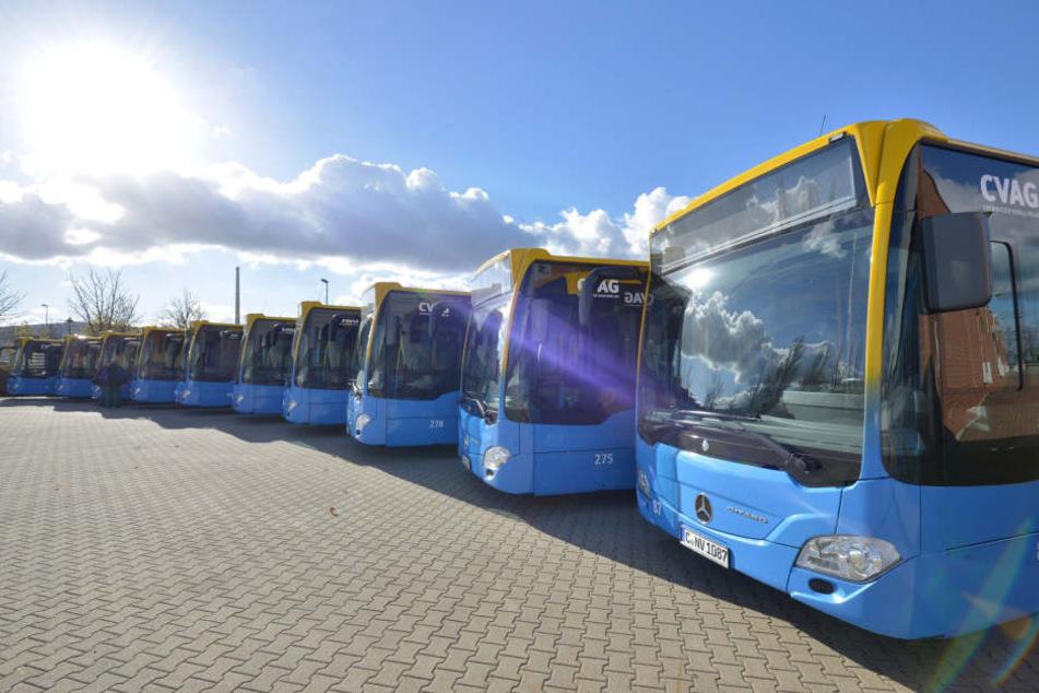 In Chemnitz wurde am Freitag ein Busfahrer angegriffen. (Symbolbild)