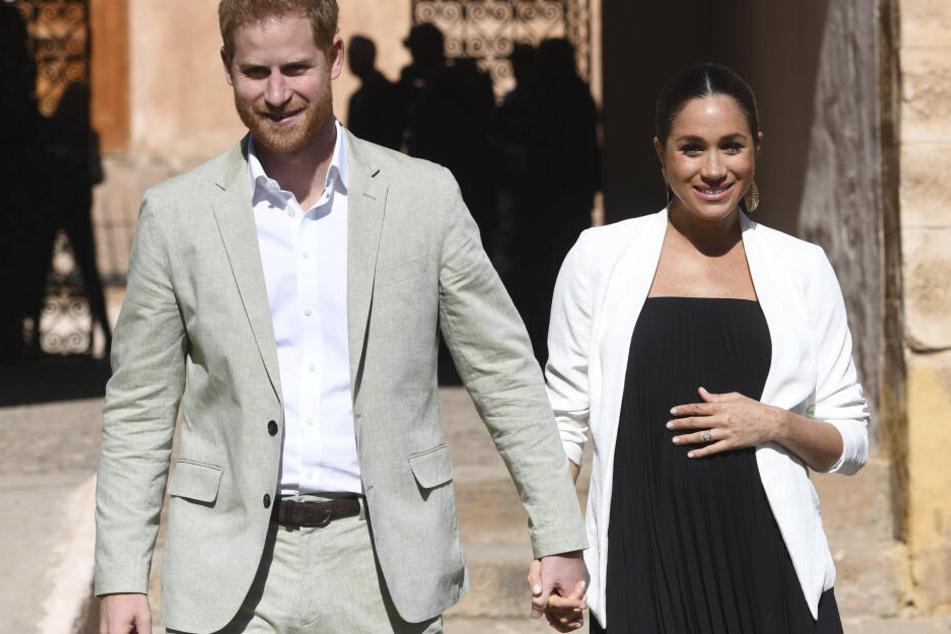 Sieht Meghan bald wieder so aus? Hier war sie mit ihrem Mann Harry hochschwanger in Marokko unterwegs. (Archivbild)