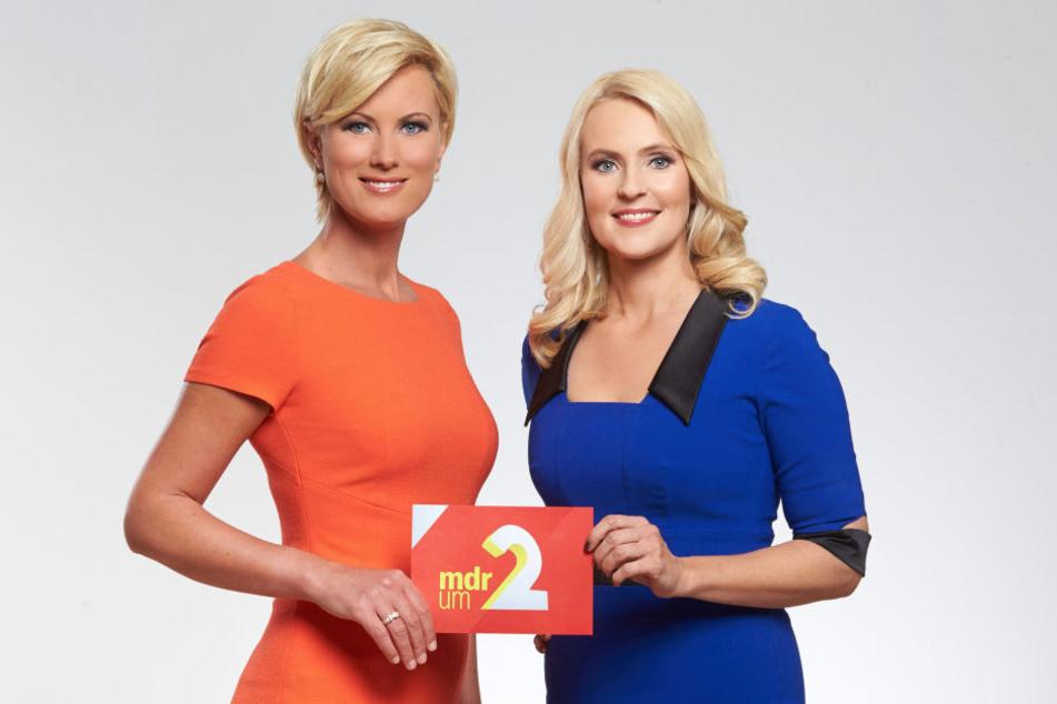 """Kamilla Senjo moderiert zudem im Wechsel mit Anja Petzold (48) die Nachrichtensendung """"MDR um 2""""."""