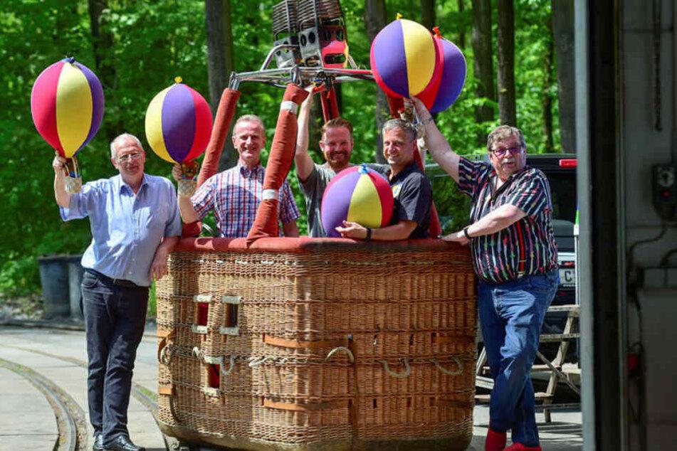 Die Organisatoren des 13. Ballonfestes im Küchwald sind startklar.