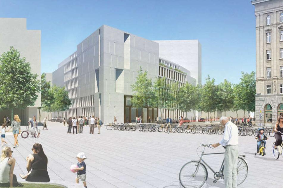 So soll die Brachfläche am Wilhelm-Leuschner-Platz in Zukunft bebaut werden.