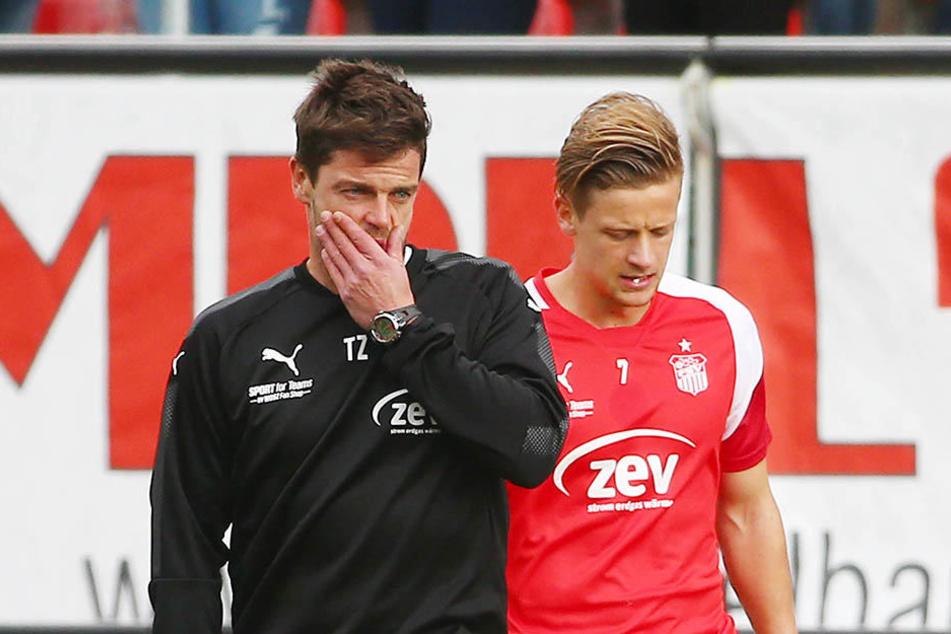 Trennen sich ihre Wege im Sommer? Der Vertrag von Trainer Torsten Ziegner (l.) läuft Ende Juni aus, der von Bentley Baxter Bahn ebenfalls.