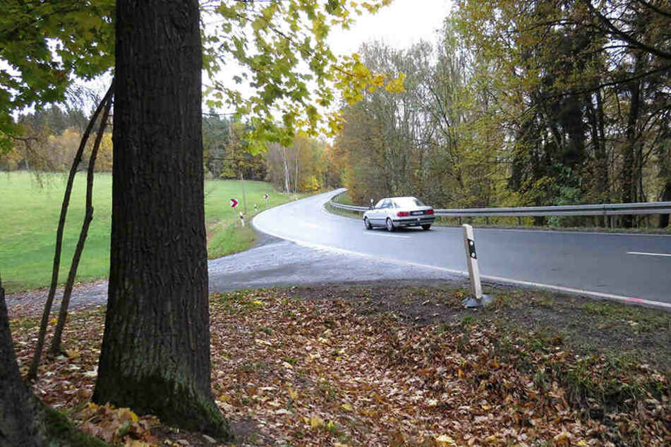In dieser Kurve geschah das Unfall-Drama im Vogtland.