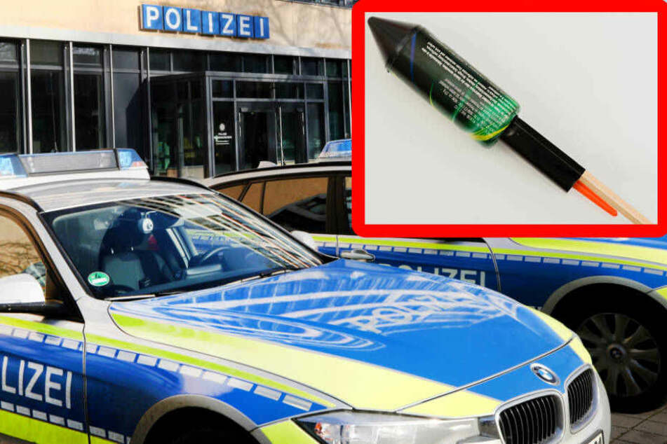 Mit Feuerwerkskörpern plante ein 39-Jähriger einen Anschlag auf die Polizei.