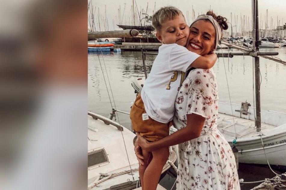 Ein Herz und eine Seele: Sarah Lombardi und Sohn Alessio.