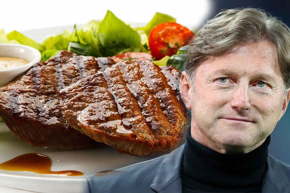Ob sich Trainer Ralph Hasenhüttl (50) ein saftiges Steak gönnen wird?