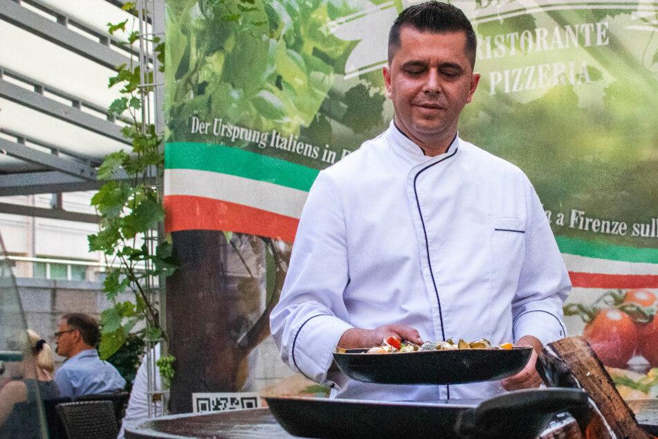 Bei ihm gibt es das beste italienische Essen frisch vom Grill