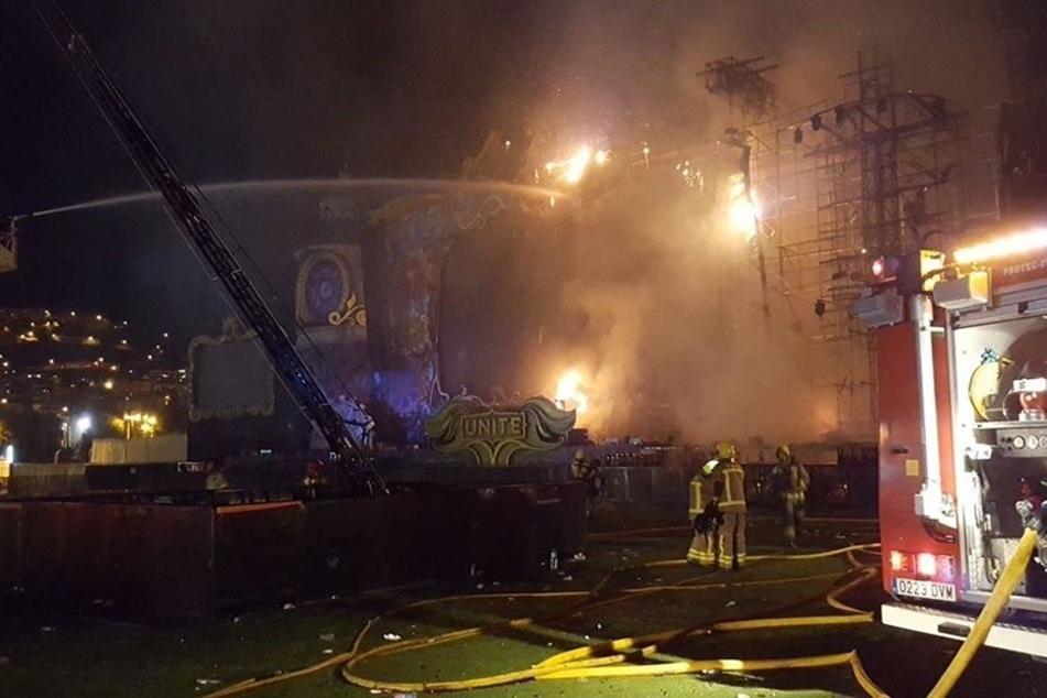 In Barcelona wurde das Festival Tomorrowland wegen eines Feuers unterbrochen.