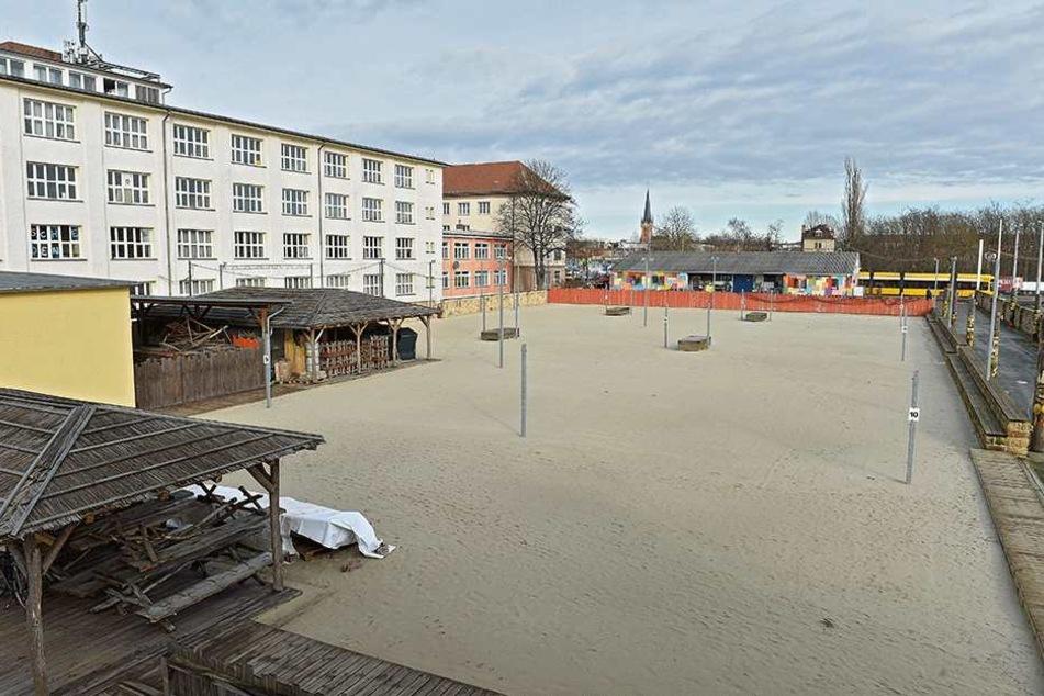 Statt 16 Volleyballfeldern gibt's jetzt nur noch neun.