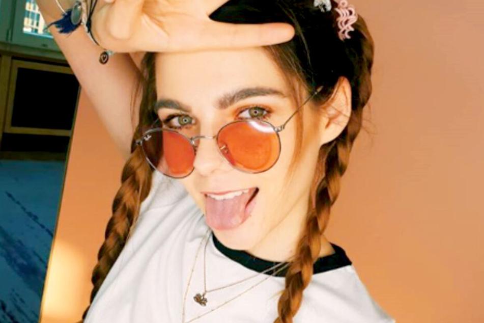 """Klaudia Giez (22) verblüfft ihre Fans mit der """"10 Year Challenge""""."""