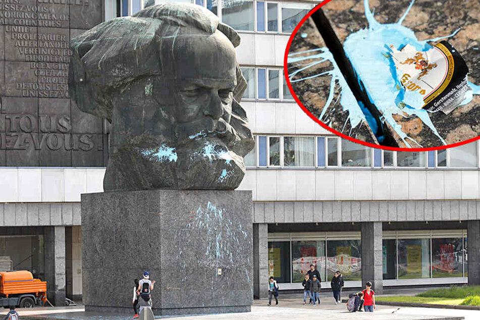 Wer hat denn den Marx himmelblau vollgeschmiert?