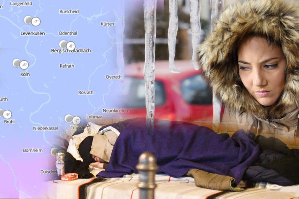 Das kalte Wetter ist besonders für Obdachlose lebensgefährlich.