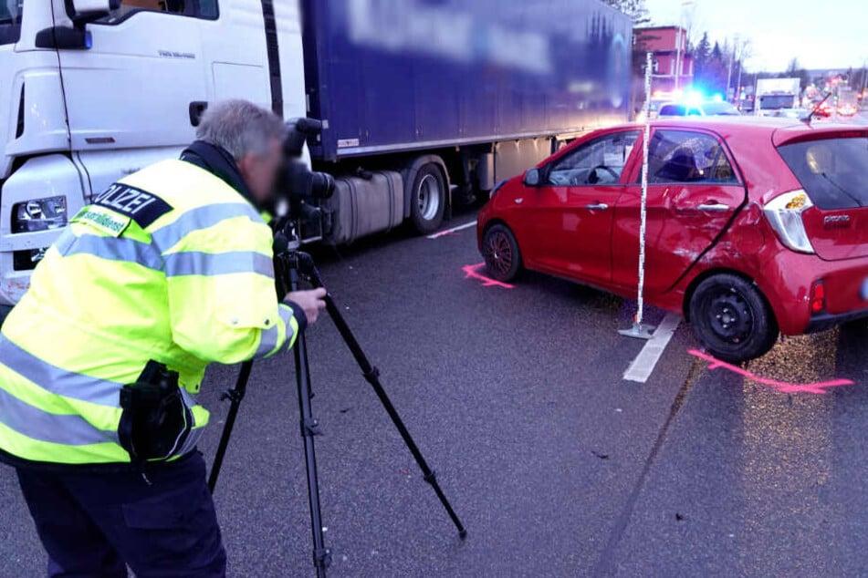 Unfall sorgt für langen Stau in Chemnitz
