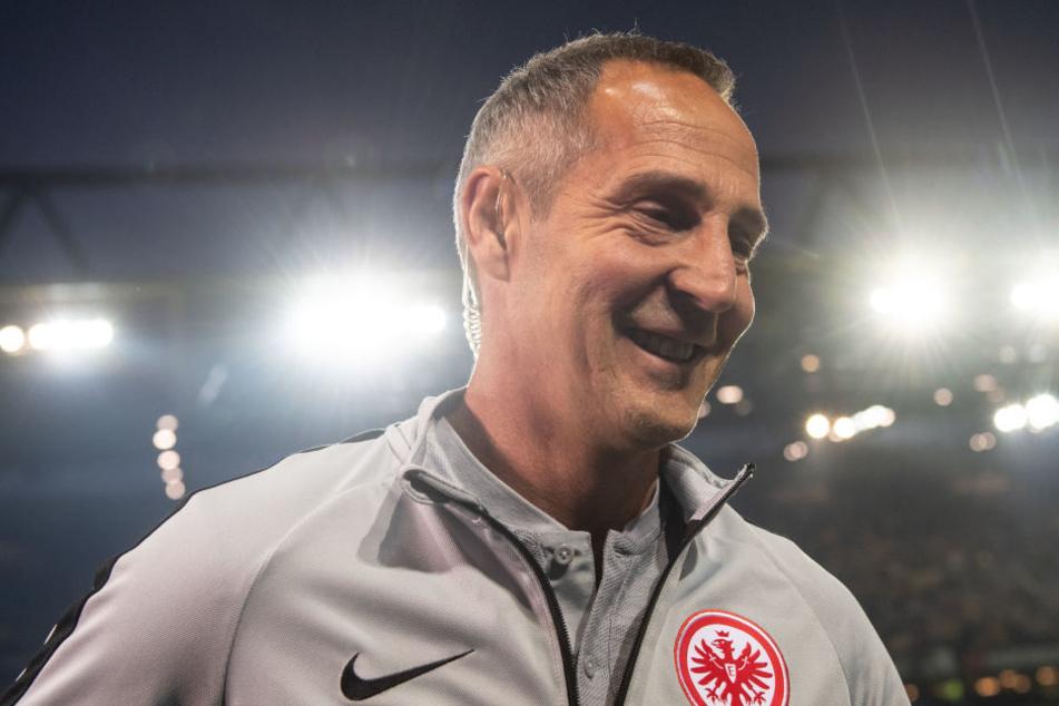 Sorgte für Überraschungen in der Startelf: Frankfurts Trainer Adi Hütter.