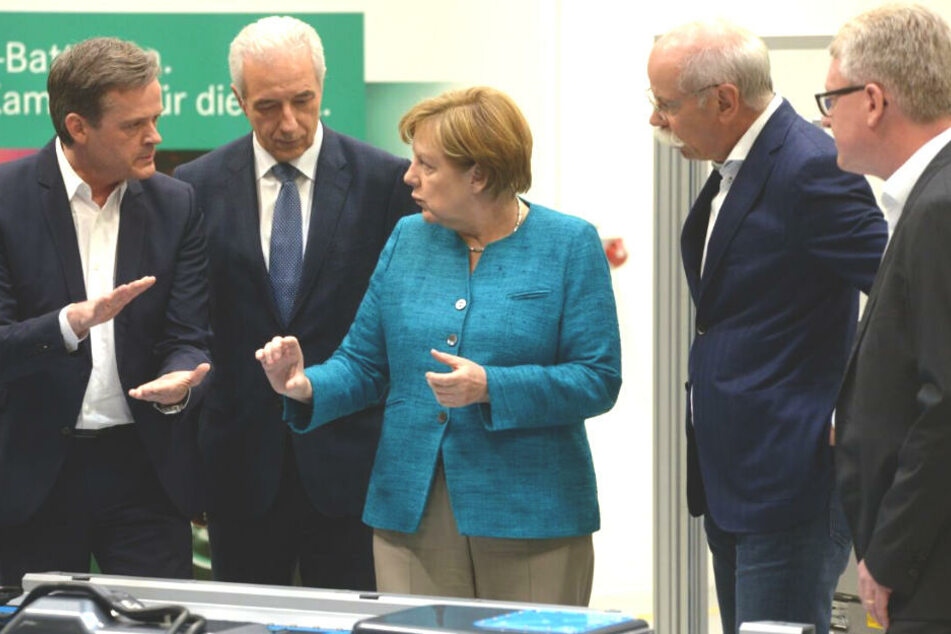 Angela Merkel gibt Startschuss für Millionen-Fabrik in Kamenz