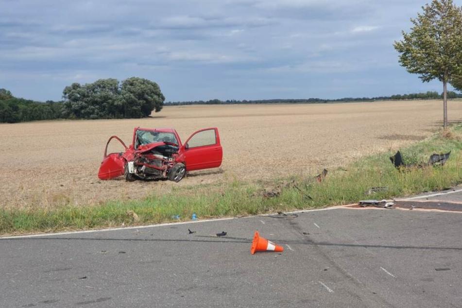 Der 75-jähriger Fahrer dieses Nissan Micra hatte den Unfall verursacht.