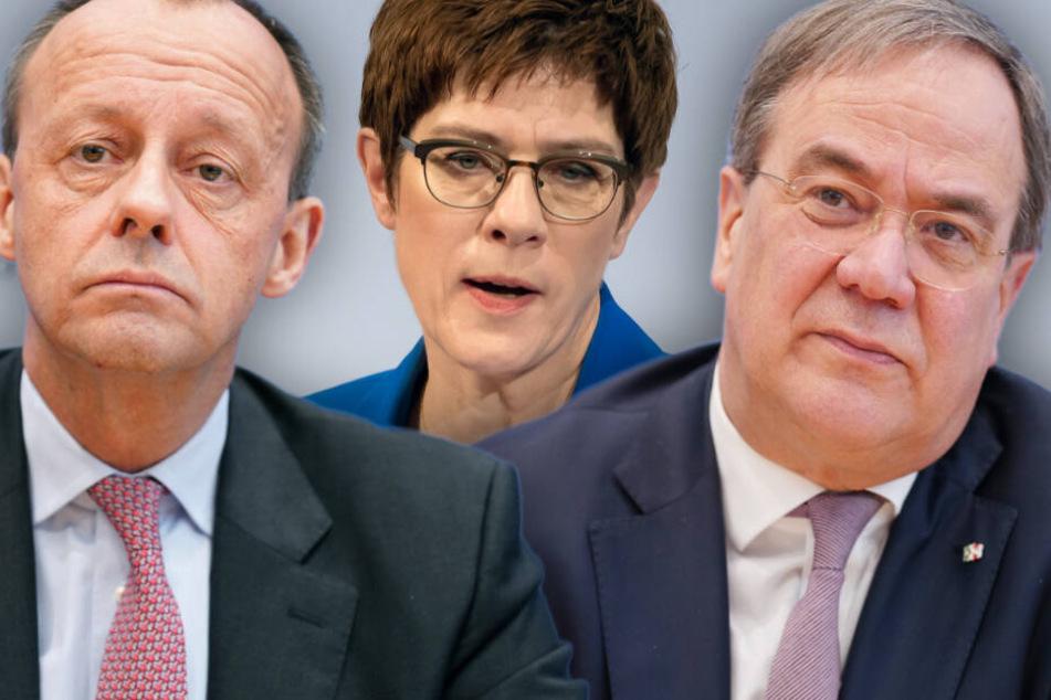 Friedrich Merz, Annegret Kramp-Karrenbauer und Armin Laschet (v.l.n.r.) stehen beim politischen Aschermittwoch aus aktuellem Anlass im Fokus. (Bildmontage)