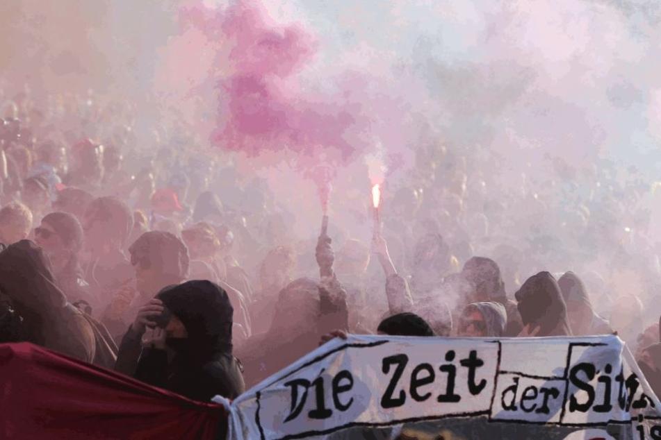 Die Demonstrationen der Linksradikalen waren in den vergangenen Jahren größtenteils friedlich. In diesem Jahr scheinen sie aber die Provokation zu suchen.