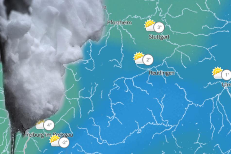 Schneit es bald? Das Wetter zum Wochenstart in Baden-Württemberg