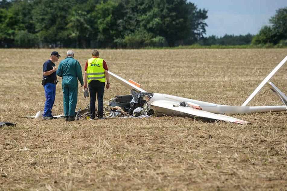 Sachse stirbt bei Segelflugzeug-Absturz