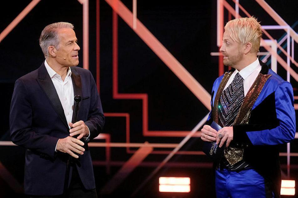 Die Entertainer Karsten Speck (60, l.) und Ross Antony (46) bei der Aufzeichnung der MDR-Show.