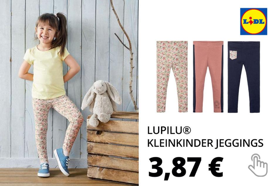 LUPILU® Kleinkinder Jeggings Mädchen, aus Baumwolle und Elasthan
